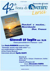 Pensieri e musica... Ricordando Don Franco @ Chiesa Parrocchiale S. Francesco | Lerici | Liguria | Italia